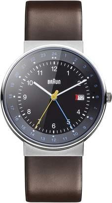 Braun Men's BN0142BKBRG GMT World Timer Analog Display Swiss Quartz Watch