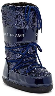 Chiara Ferragni Lace-Up Sequin Boot