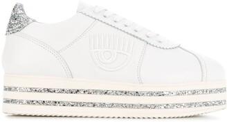 Chiara Ferragni platform glitter sneakers