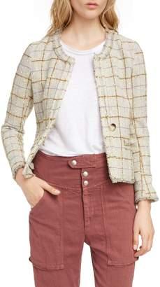 Etoile Isabel Marant Lyra Check Wool Blend Jacket