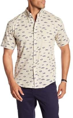 LOFT 604 Short Sleeve Clown Fish Regular Fit Woven Shirt