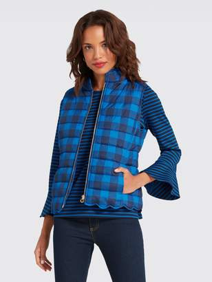 Draper James Buffalo Check Vest