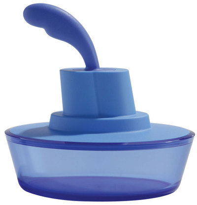 Alessi Ship Shape Butter Dish Blue