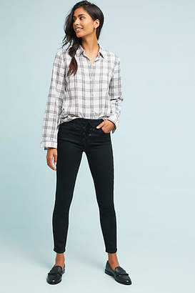 Mother The Looker High-Rise Lace-Up Skinny Jeans