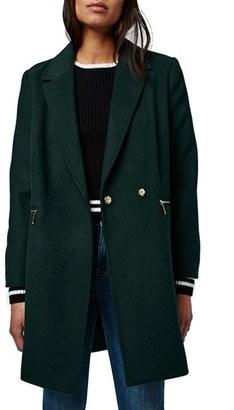 Topshop 'Meg' Zip Pocket Coat $110 thestylecure.com