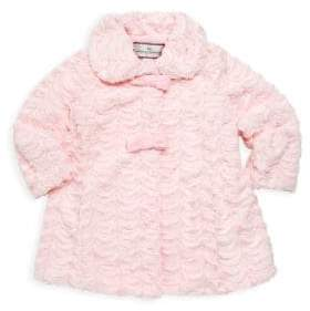 Widgeon Little Girl's& Girl's Two Bow A-Line Coat