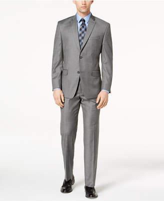 Andrew Marc Men's Classic-Fit Stretch Gray Glen Plaid Suit