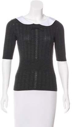 Rena Lange Collared Knit Top