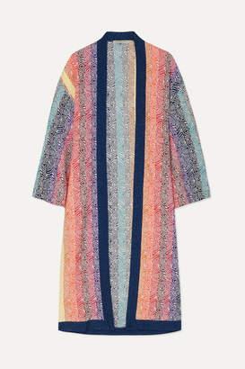 Mary Katrantzou Sola Glittered Jacquard-knit Cardigan - Pink