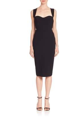 Victoria Beckham Twist-Back Sheath Dress