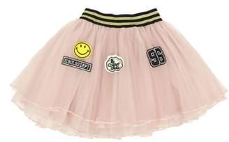 Popatu Varsity Patches Tulle Skirt