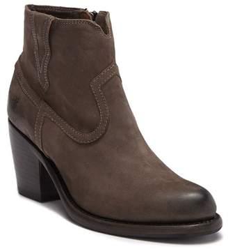 Frye Lillian Western Leather Ankle Bootie