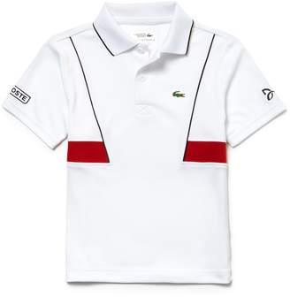 Lacoste Boys' SPORT Technical Pique Polo - Novak Djokovic Collection