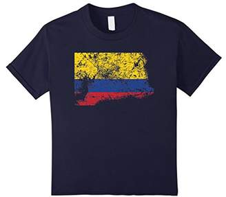 Distressed Beat Up Colombian Flag Vintage Colombia T-Shirt