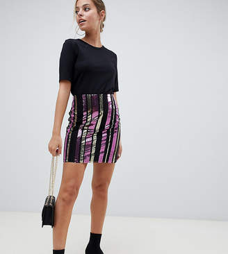 Noisy May Petite sequin skirt