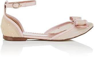 RED Valentino WOMEN'S BOW-EMBELLISHED D'ORSAY FLATS