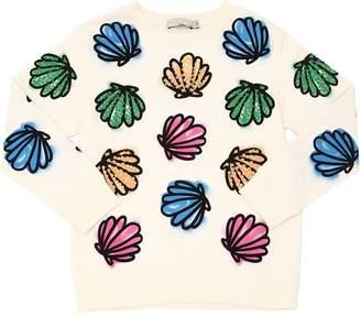 Stella McCartney Seashells Print Cotton Sweatshirt