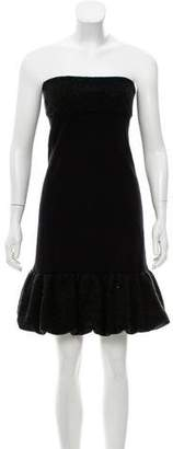RED Valentino Wool Accented Mini Dress