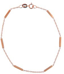 Jennifer Meyer Rose Gold Bar Bracelet