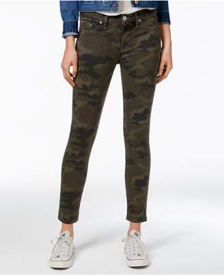 Hudson Jeans Nico Camo-Print Super-Skinny Jeans $195 thestylecure.com
