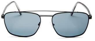 Prada Men's Polarized Brow Bar Square Sunglasses, 59mm