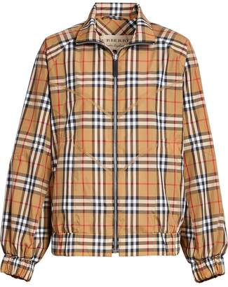 Burberry Topstitch Detail Vintage Check Harrington Jacket