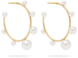 Irene Neuwirth Gumball Akoya Pearl And 18kt Gold Hoop Earrings - Womens - Pearl