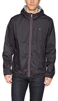 Tommy Hilfiger Men's Active Rain Slicker Jacket Tricolor Zipper