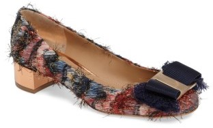 Women's Salvatore Ferragamo Frayed Bow Pump $625 thestylecure.com