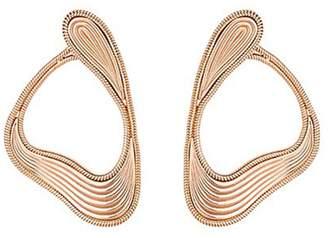 Fernando Jorge 'Stream Lines' 18k rose gold loop earrings