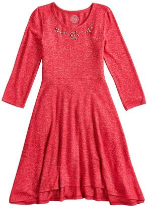 So Girls 7-16 and Plus Size SO Sequin Fit & Flare Skater Dress