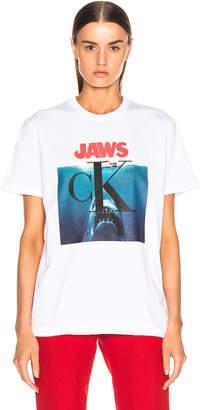 Calvin Klein Jaws Tee Shirt in Optic White | FWRD