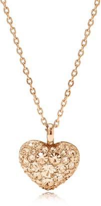 Fossil Glitz Heart Pendant Women's Necklace