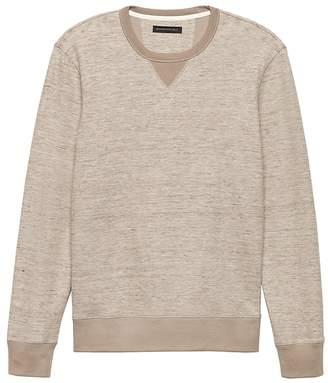 Banana Republic Cotton-Linen Long-Sleeve Sweatshirt