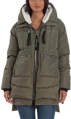 Bagatelle Women's Sport Hood Layered Puffer Jacket