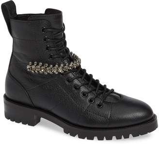 Jimmy Choo Cruz Crystal Combat Boot
