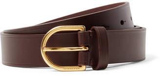 Burberry 3cm Dark-brown Alex Leather Belt