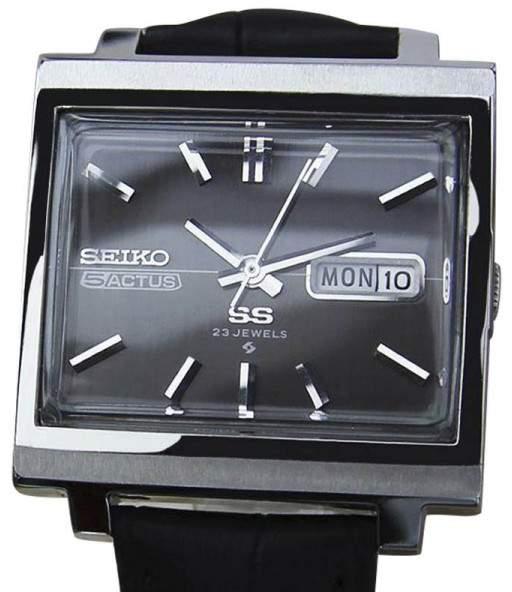 SeikoSeiko 5 Actus Stainless Steel / Leather Vintage 34mm Mens Watch