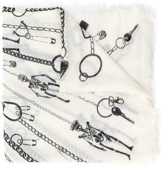 Alexander McQueen key chain-print scarf