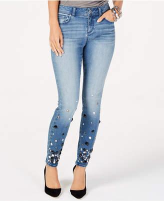 INC International Concepts I.N.C. Rhinestone-Embellished Skinny Jeans, Created for Macy's