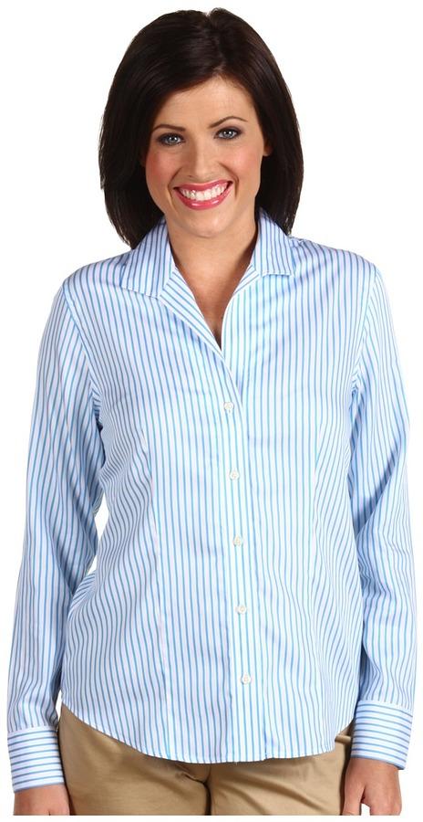 Paperwhite L/S Wing Collar Stripe Shirt