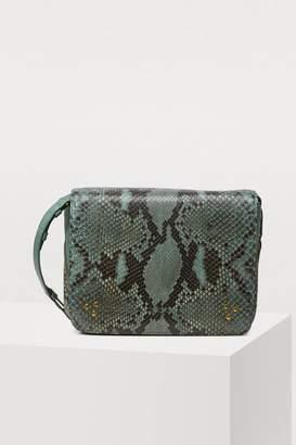 Jerome Dreyfuss Igor python crossbody bag