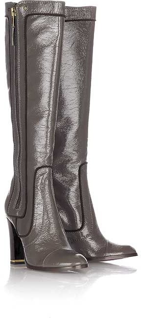 Stella McCartney Patent knee high boots