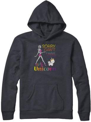 Gildan Great Family Store Sorry I Can't I Have To Walk My Unicorn T-Shirt Women Pullover Hoodie