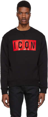 DSQUARED2 Black Icon Cool Fit Sweatshirt