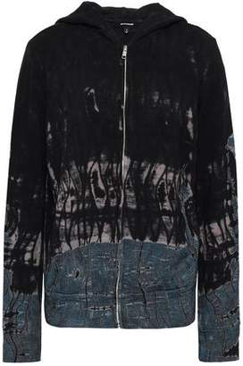 Monrow Tie-dyed French Terry Hooded Jacket