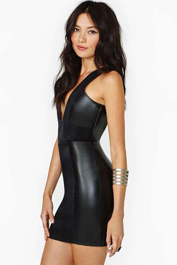 Nasty Gal Hard Habit Faux Leather Dress