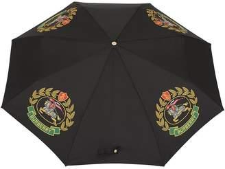 Burberry Crest Print Folding Umbrella