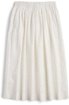 J.Crew J. CREW Vintage Clip Dot Midi Skirt
