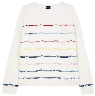 Paul Smith Ivory Ruffle-trimmed Wool Jumper